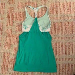 lululemon athletica Tops - Green LULULEMON Sports Bra Tank Top Size 4